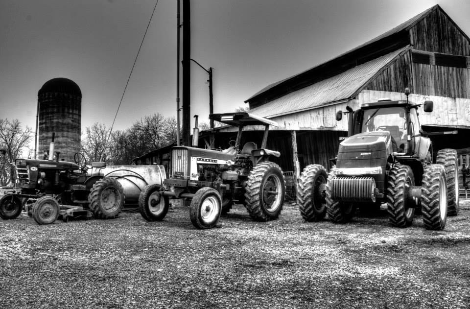 Tractors through the decades.