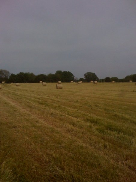 Baling hay before a rain